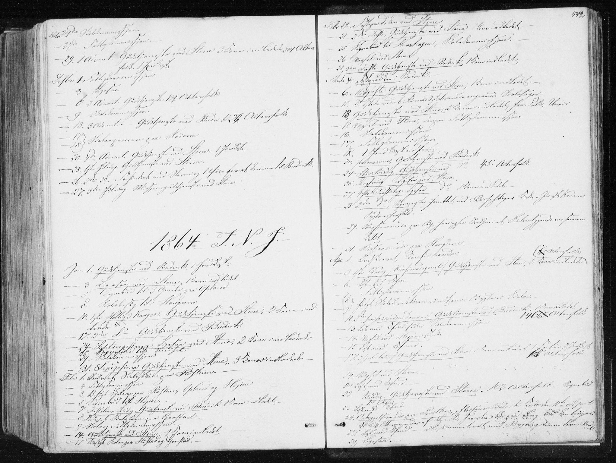 SAT, Ministerialprotokoller, klokkerbøker og fødselsregistre - Sør-Trøndelag, 612/L0377: Ministerialbok nr. 612A09, 1859-1877, s. 552