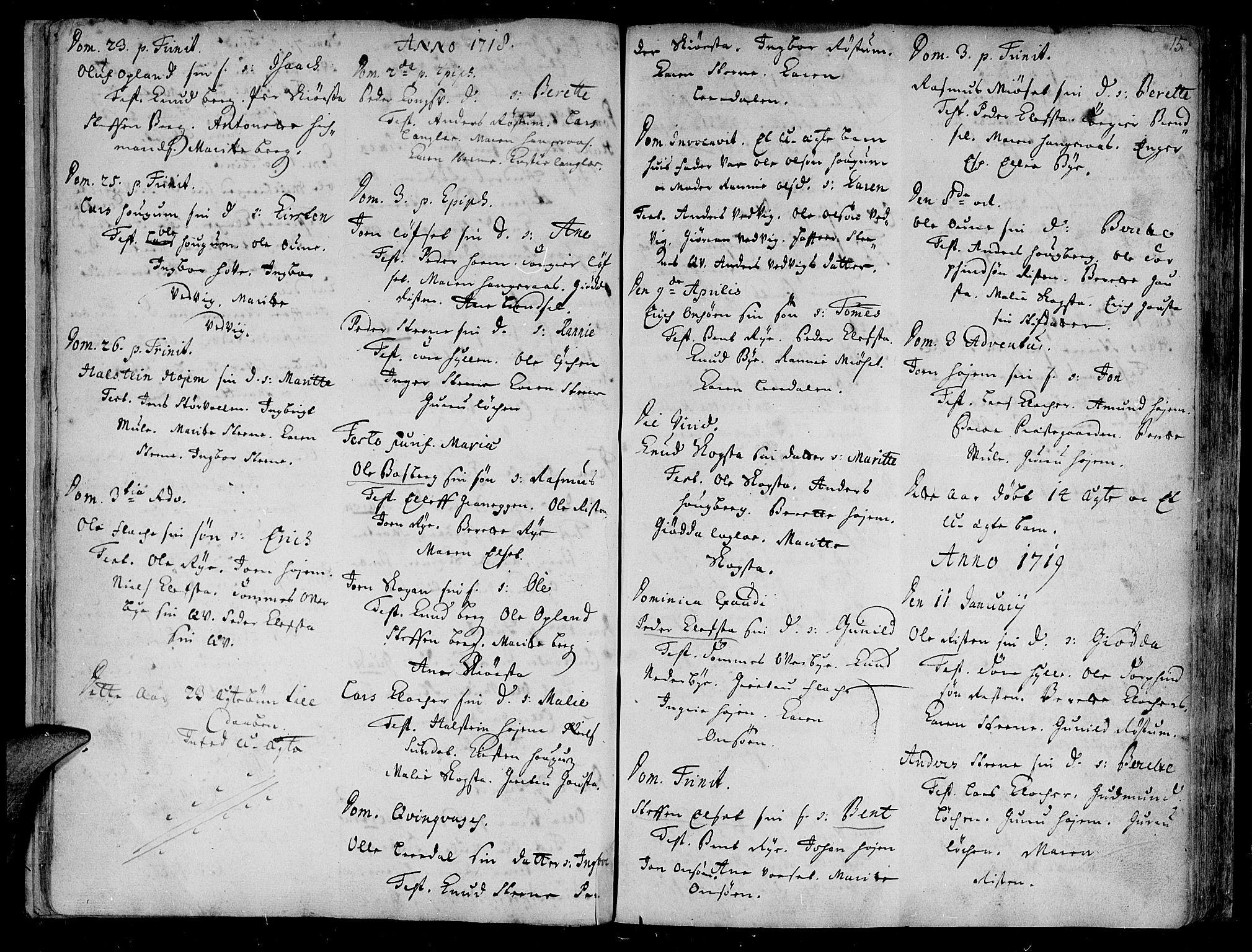 SAT, Ministerialprotokoller, klokkerbøker og fødselsregistre - Sør-Trøndelag, 612/L0368: Ministerialbok nr. 612A02, 1702-1753, s. 15
