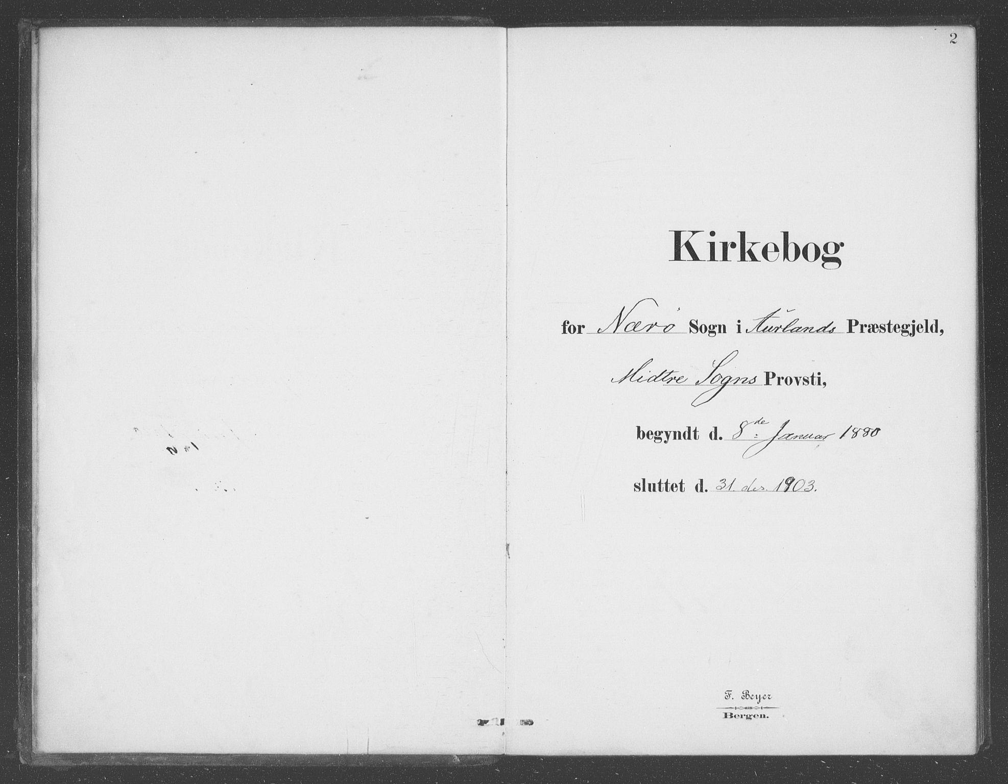 SAB, Aurland sokneprestembete, H/Ha/Had/L0001: Ministerialbok nr. D  1, 1880-1903, s. 2