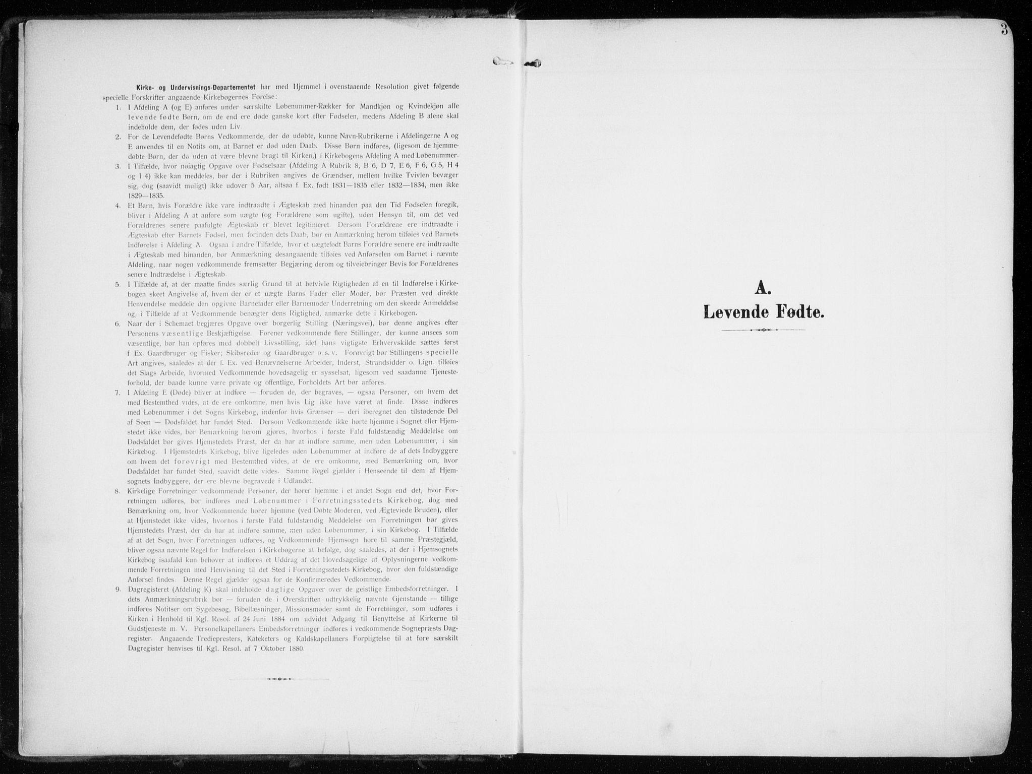 SATØ, Tromsøysund sokneprestkontor, G/Ga/L0007kirke: Ministerialbok nr. 7, 1907-1914, s. 3