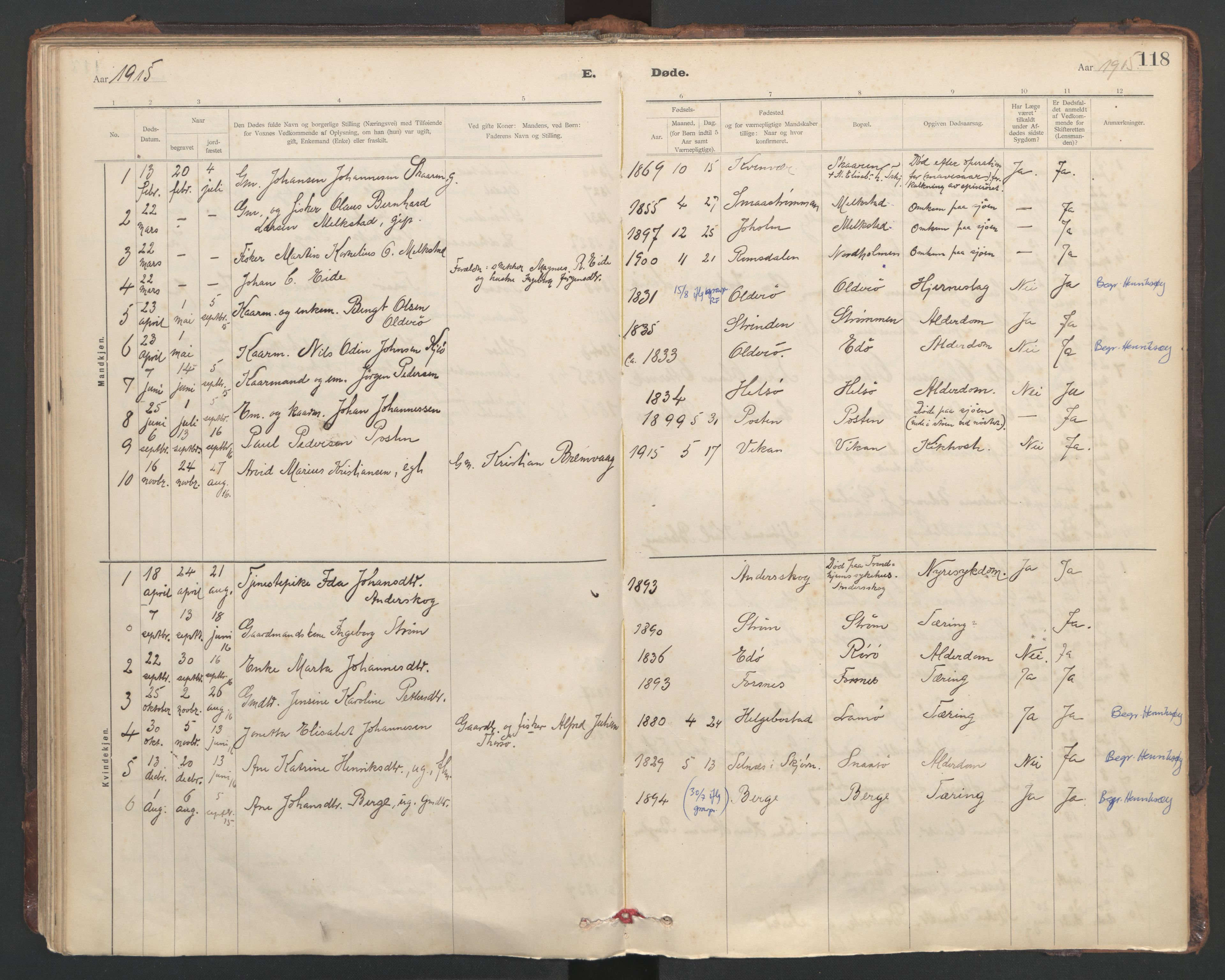 SAT, Ministerialprotokoller, klokkerbøker og fødselsregistre - Sør-Trøndelag, 635/L0552: Ministerialbok nr. 635A02, 1899-1919, s. 118