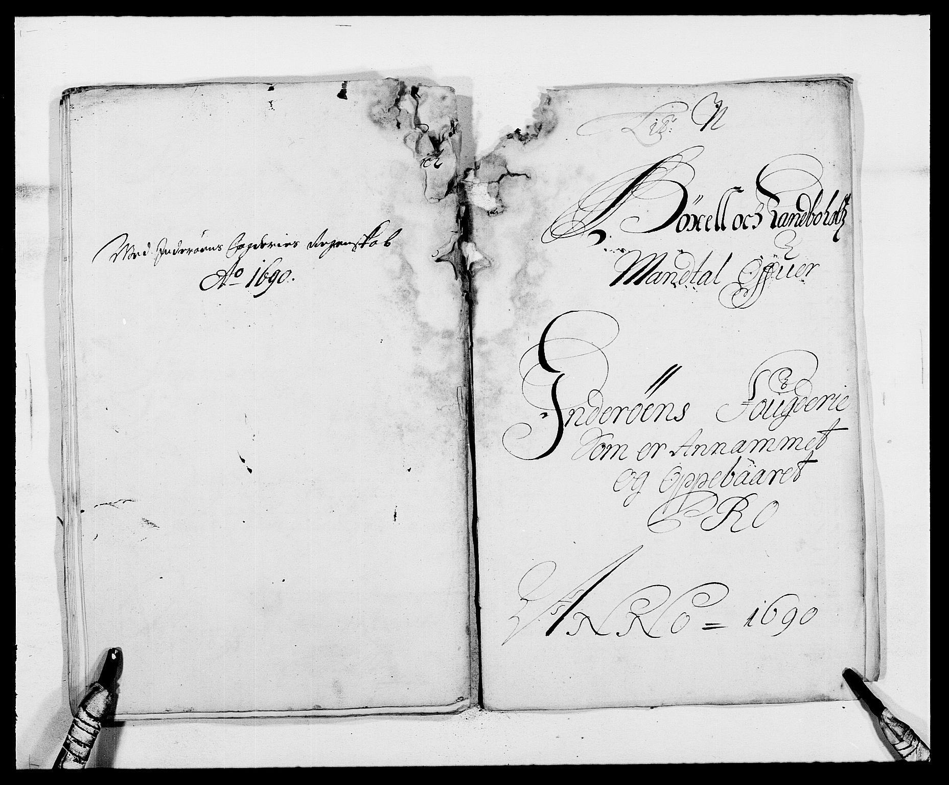 RA, Rentekammeret inntil 1814, Reviderte regnskaper, Fogderegnskap, R63/L4307: Fogderegnskap Inderøy, 1690-1691, s. 175