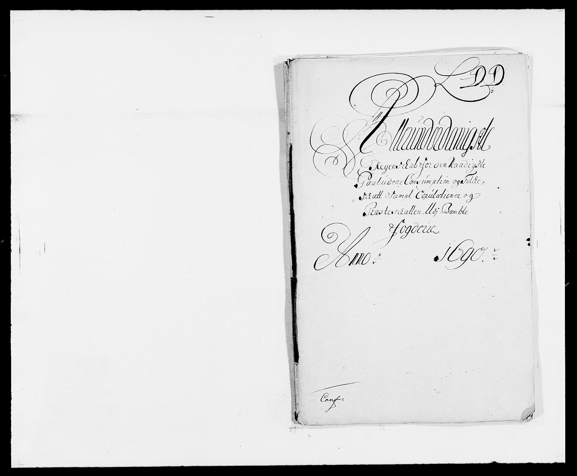 RA, Rentekammeret inntil 1814, Reviderte regnskaper, Fogderegnskap, R34/L2051: Fogderegnskap Bamble, 1688-1691, s. 120