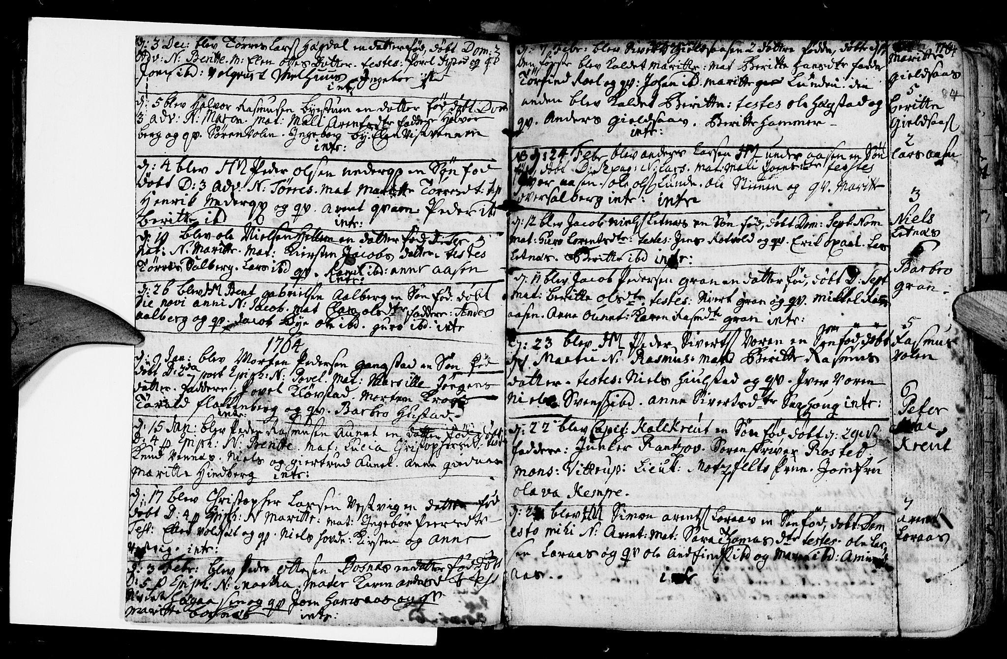 SAT, Ministerialprotokoller, klokkerbøker og fødselsregistre - Nord-Trøndelag, 730/L0273: Ministerialbok nr. 730A02, 1762-1802, s. 84