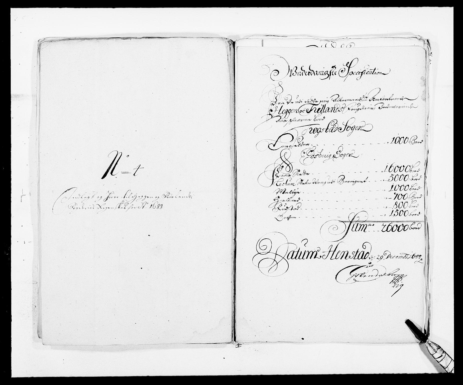 RA, Rentekammeret inntil 1814, Reviderte regnskaper, Fogderegnskap, R06/L0282: Fogderegnskap Heggen og Frøland, 1687-1690, s. 97