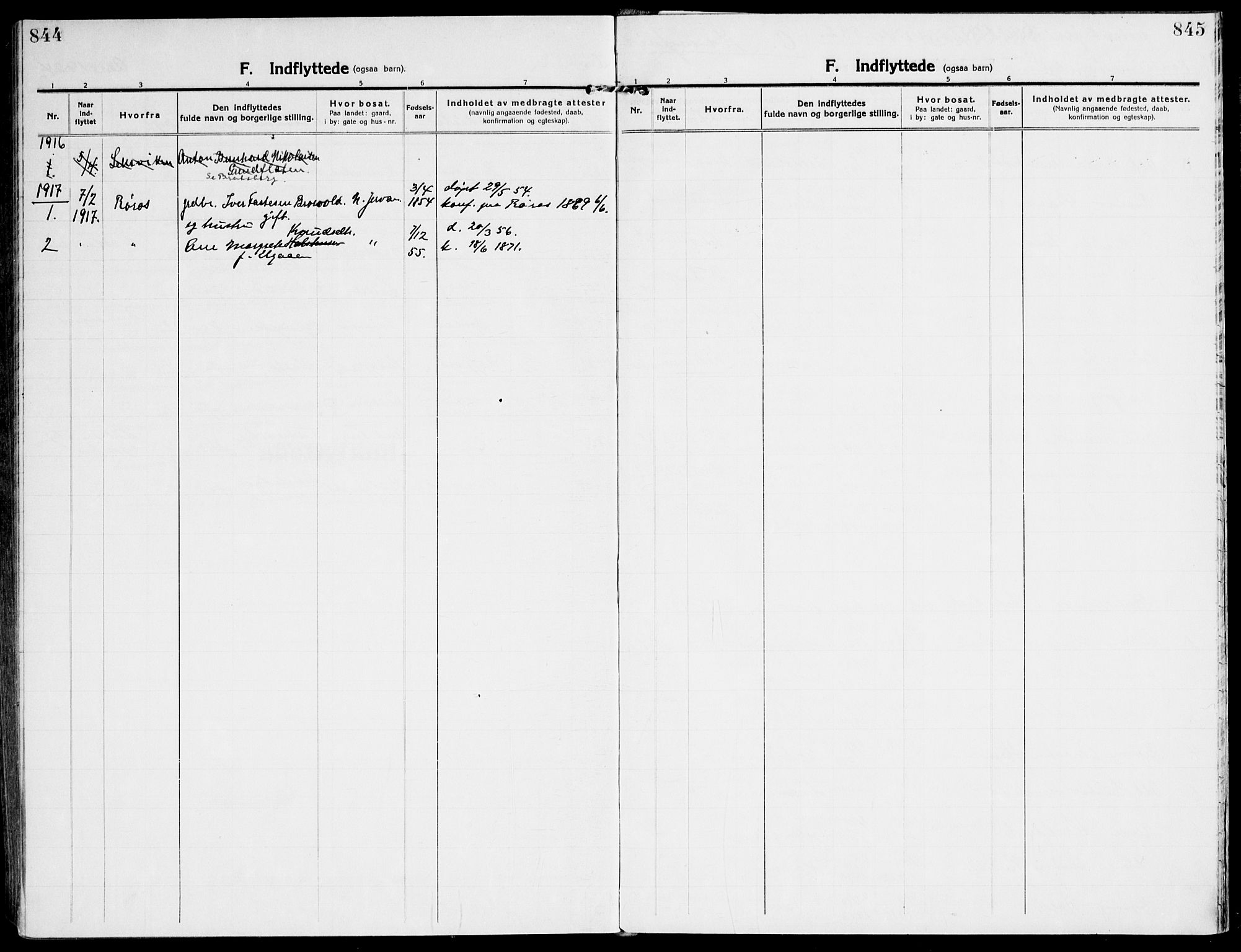 SAT, Ministerialprotokoller, klokkerbøker og fødselsregistre - Sør-Trøndelag, 607/L0321: Ministerialbok nr. 607A05, 1916-1935, s. 844-845