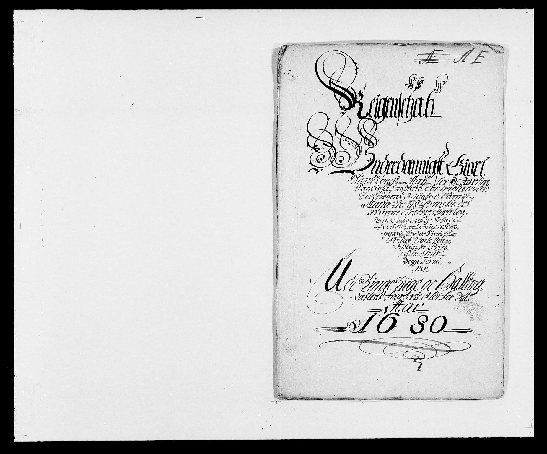 RA, Rentekammeret inntil 1814, Reviderte regnskaper, Fogderegnskap, R21/L1444: Fogderegnskap Ringerike og Hallingdal, 1680-1681, s. 1