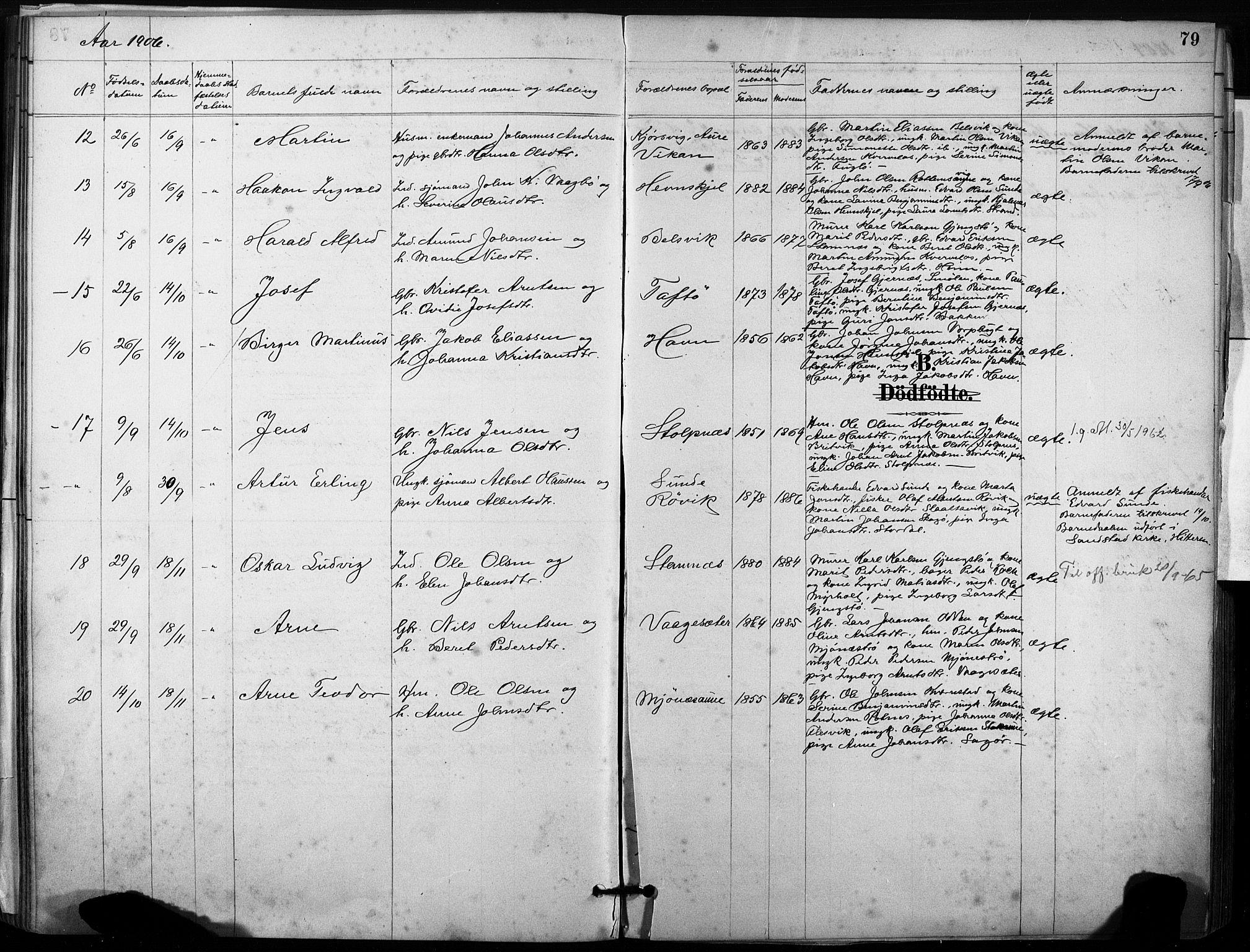 SAT, Ministerialprotokoller, klokkerbøker og fødselsregistre - Sør-Trøndelag, 633/L0518: Ministerialbok nr. 633A01, 1884-1906, s. 79