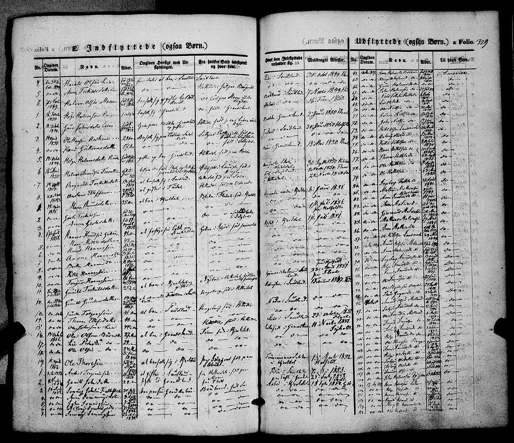 SAKO, Hjartdal kirkebøker, F/Fa/L0008: Ministerialbok nr. I 8, 1844-1859, s. 329