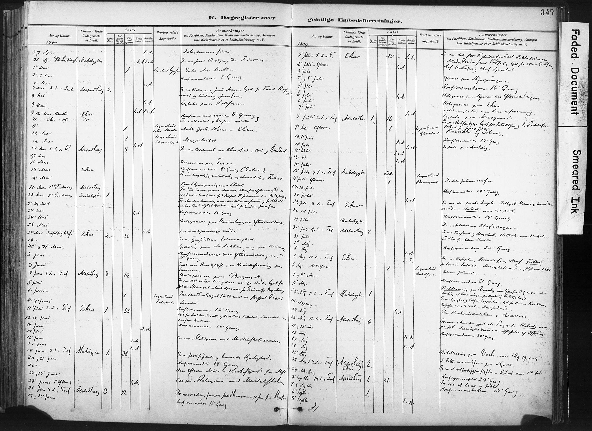 SAT, Ministerialprotokoller, klokkerbøker og fødselsregistre - Nord-Trøndelag, 717/L0162: Ministerialbok nr. 717A12, 1898-1923, s. 347