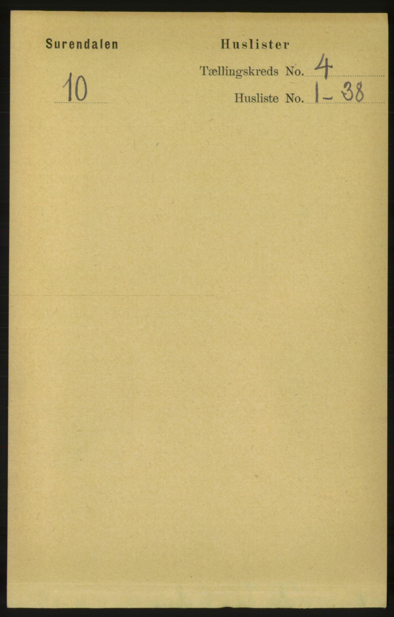 RA, Folketelling 1891 for 1566 Surnadal herred, 1891, s. 1022