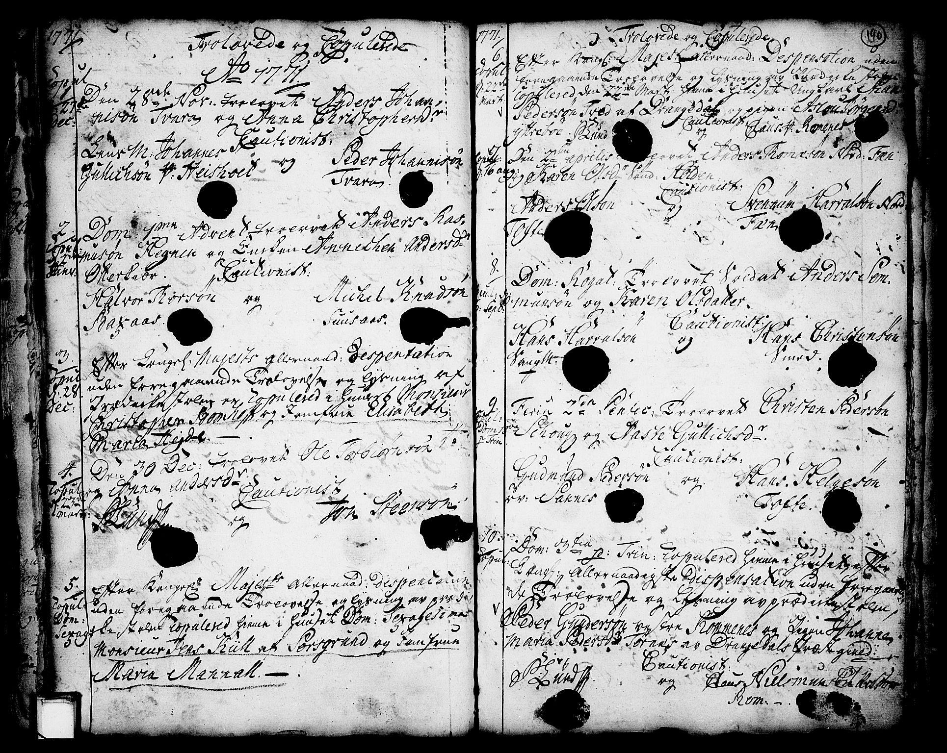 SAKO, Holla kirkebøker, F/Fa/L0001: Ministerialbok nr. 1, 1717-1779, s. 190