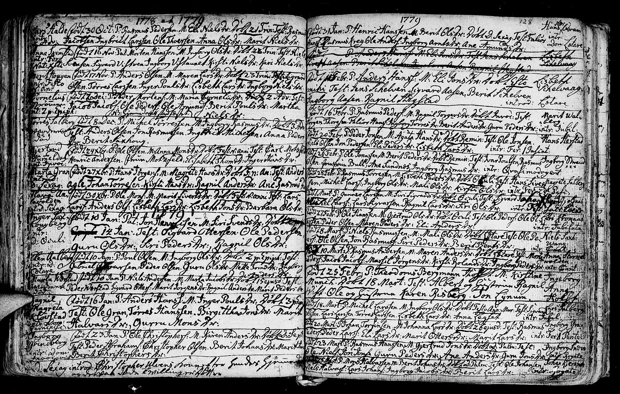SAT, Ministerialprotokoller, klokkerbøker og fødselsregistre - Nord-Trøndelag, 730/L0273: Ministerialbok nr. 730A02, 1762-1802, s. 128