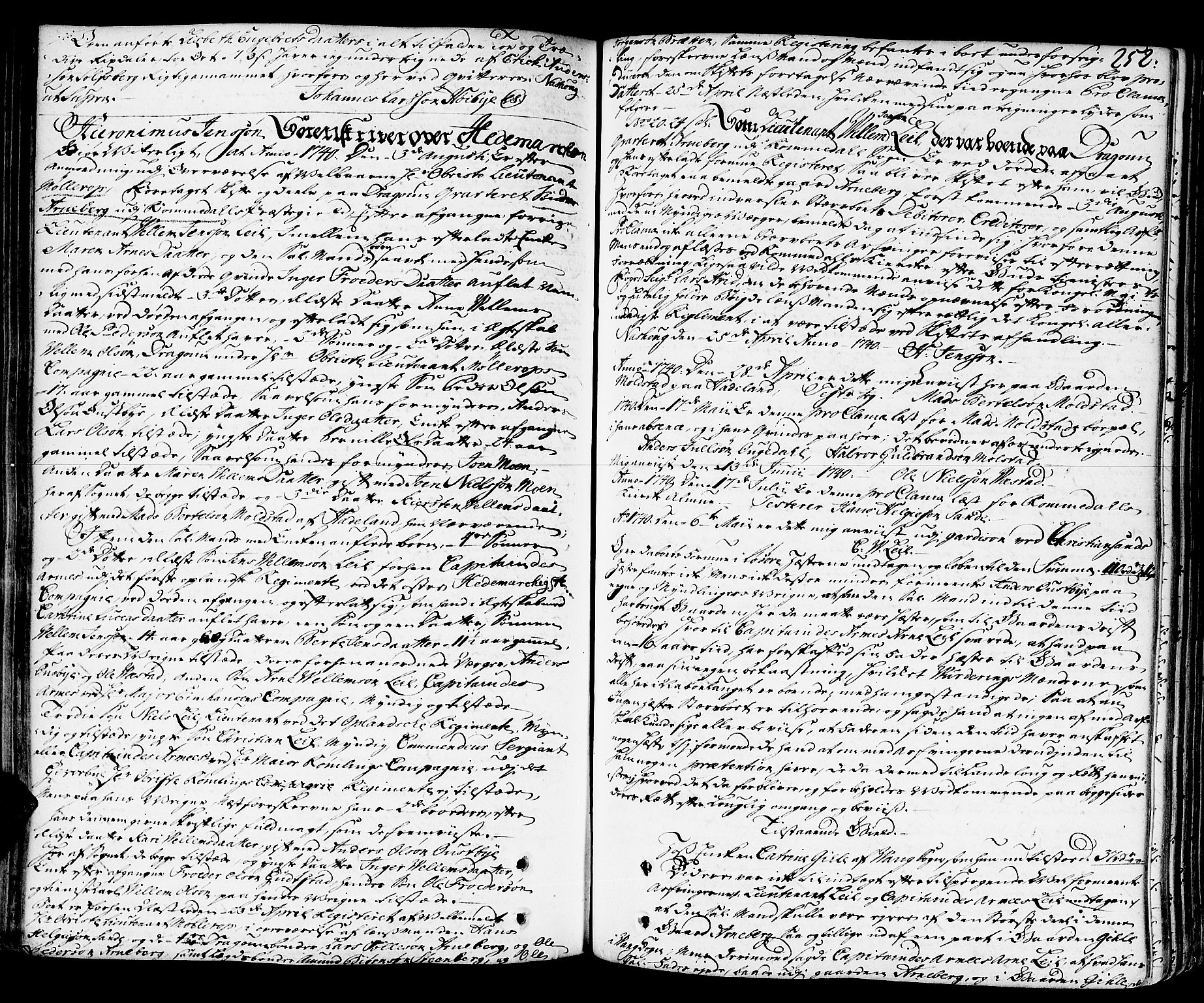 SAH, Hedemarken sorenskriveri, J/Ja/L0011: Skifteprotokoll, 1736-1743, s. 251b-252a