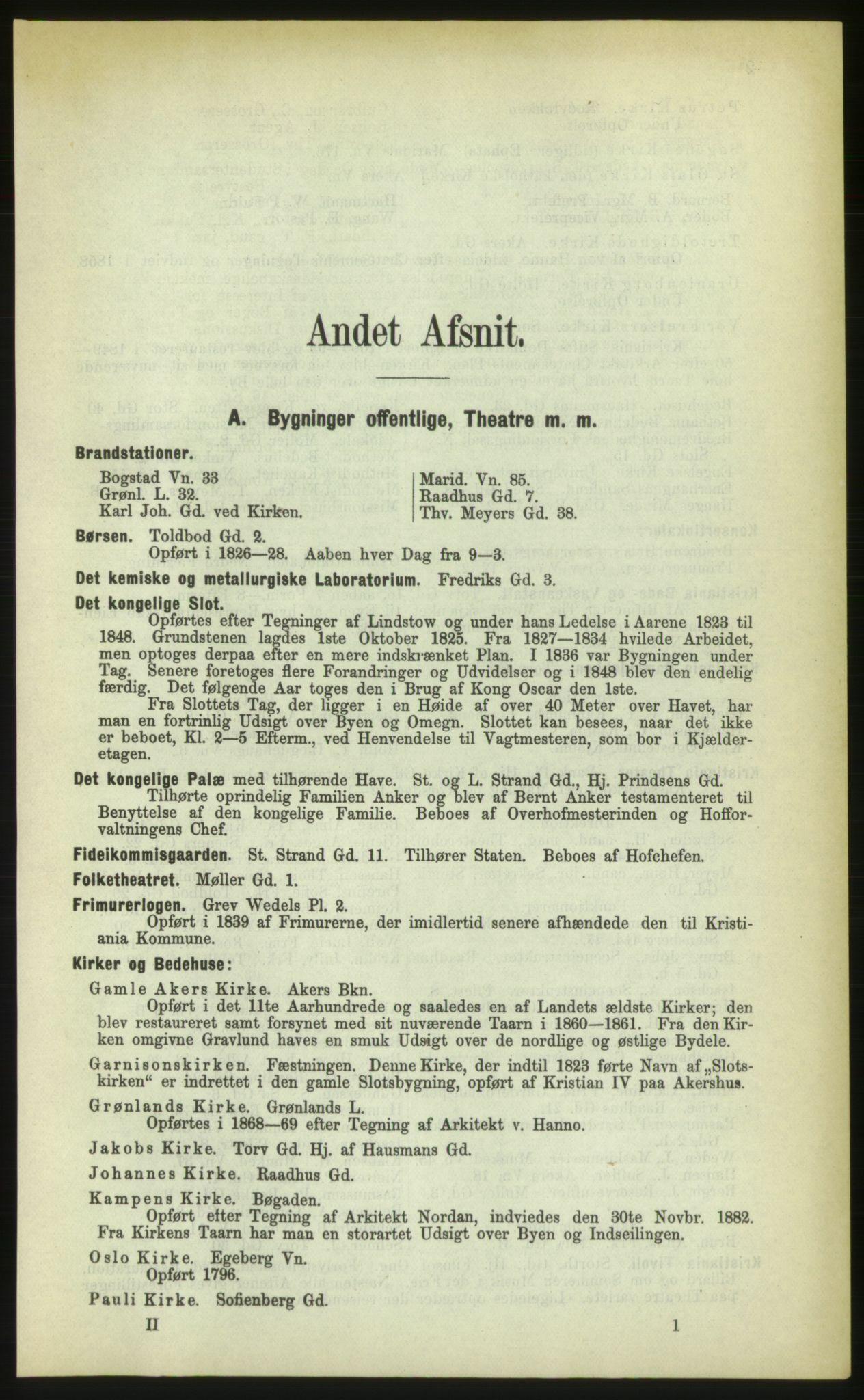 PUBL, Kristiania/Oslo adressebok, 1883, s. 1