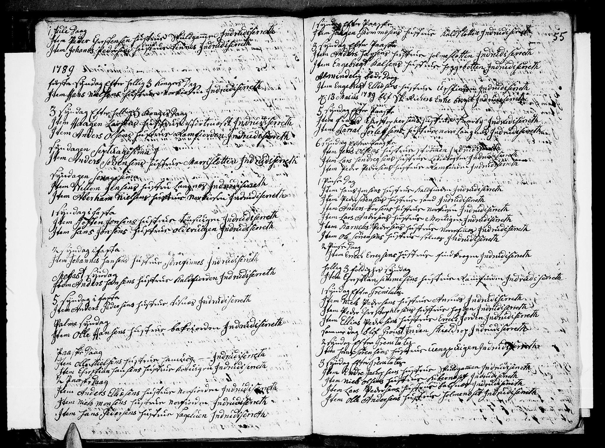 SATØ, Tromsø sokneprestkontor/stiftsprosti/domprosti, G/Ga/L0004kirke: Ministerialbok nr. 4, 1787-1795, s. 55
