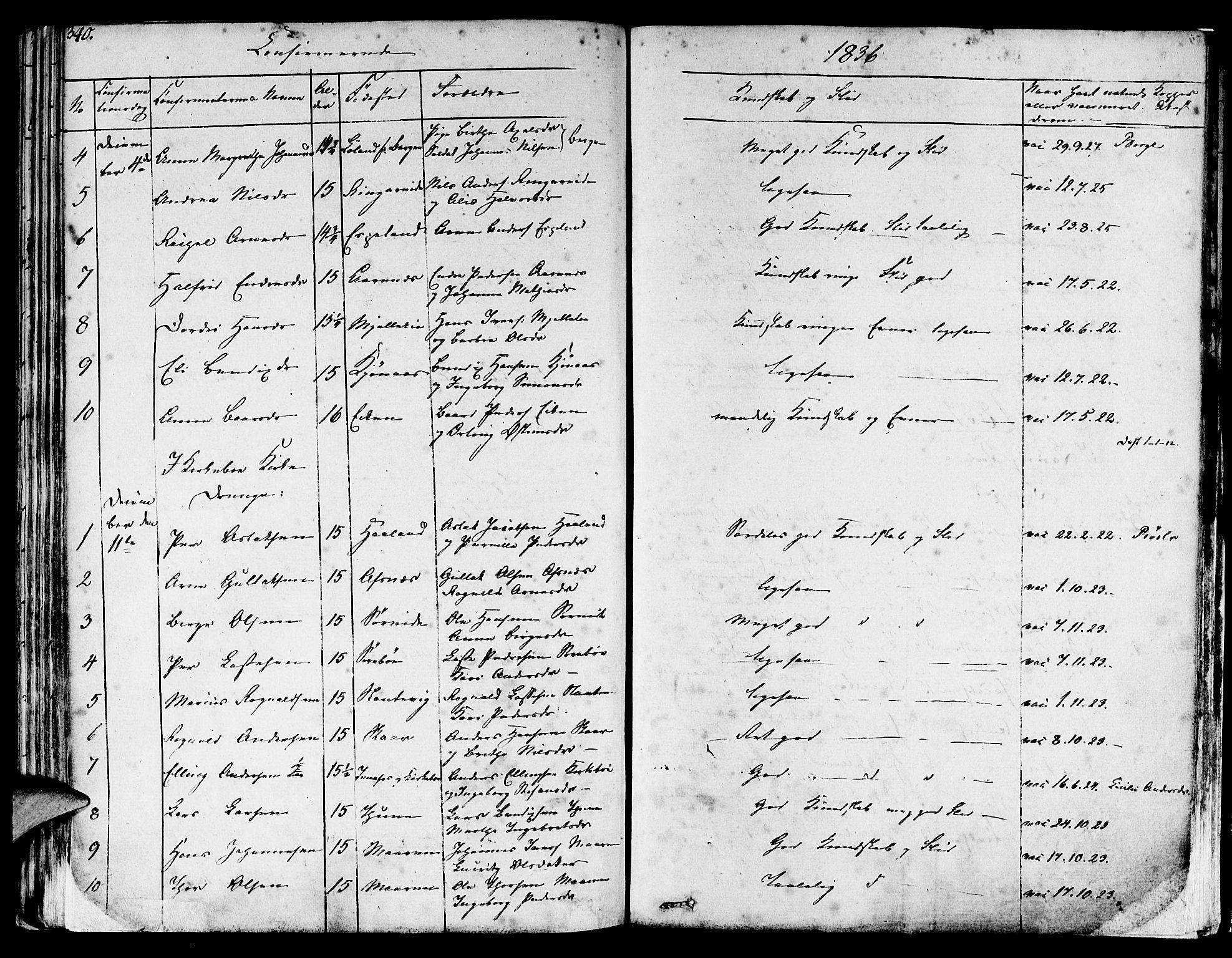 SAB, Lavik sokneprestembete, Ministerialbok nr. A 2I, 1821-1842, s. 340