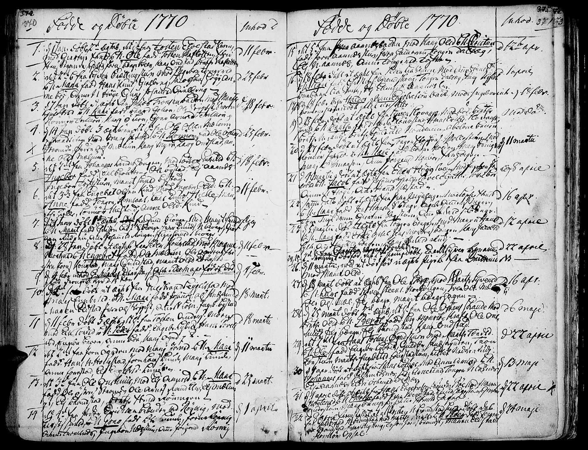 SAH, Ringebu prestekontor, Ministerialbok nr. 2, 1734-1780, s. 370-371
