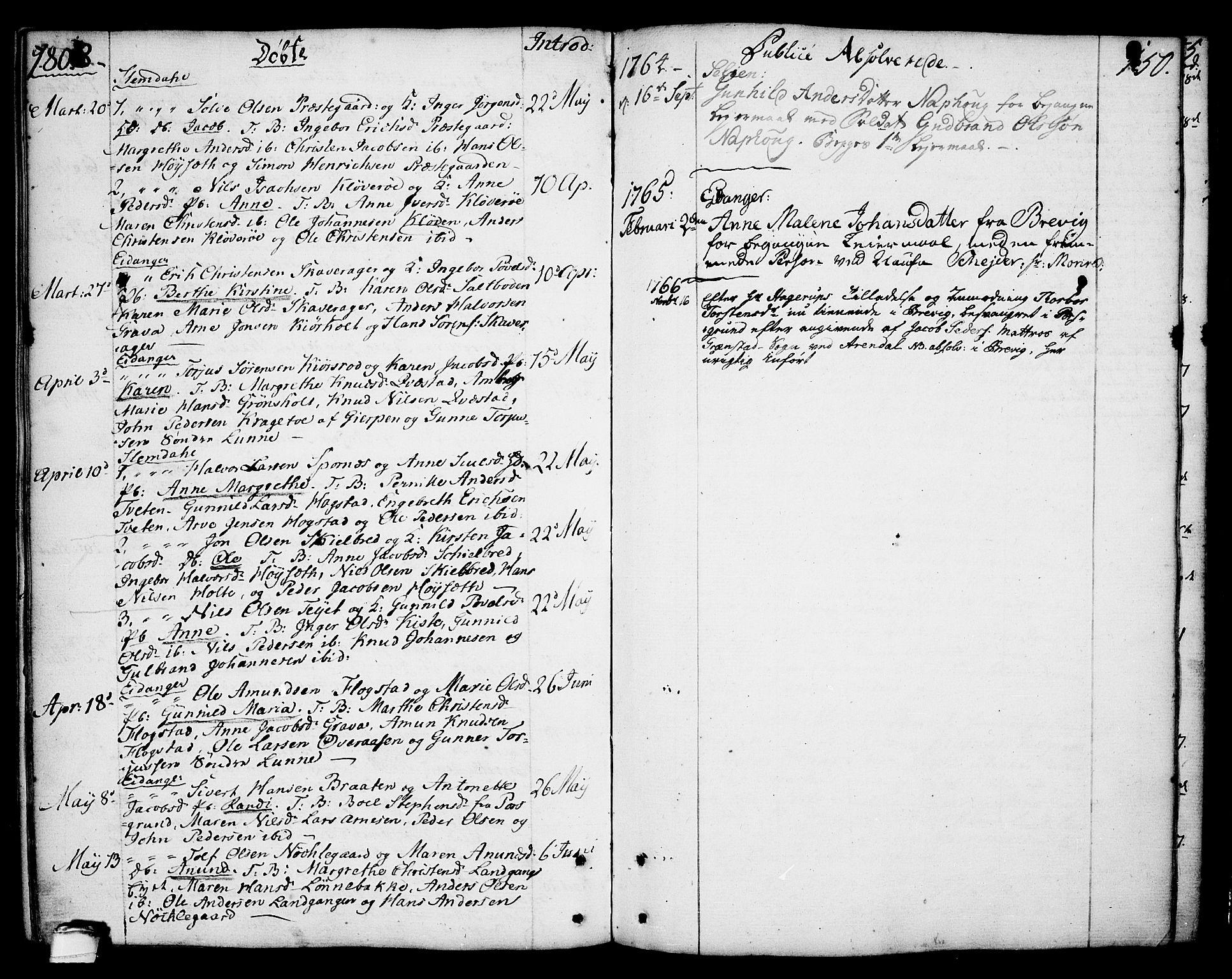 SAKO, Eidanger kirkebøker, F/Fa/L0006: Ministerialbok nr. 6, 1764-1814, s. 150