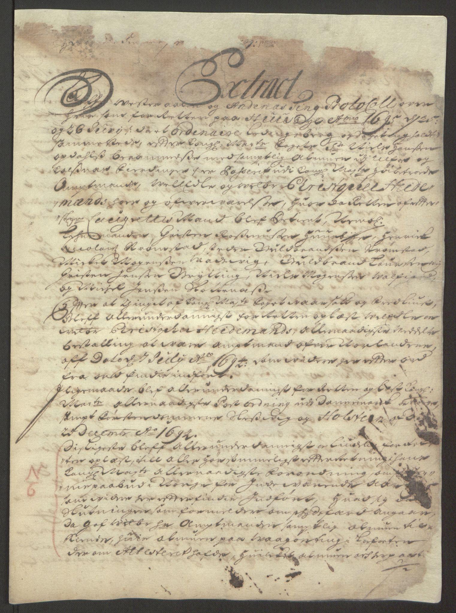 RA, Rentekammeret inntil 1814, Reviderte regnskaper, Fogderegnskap, R67/L4677: Fogderegnskap Vesterålen, Andenes og Lofoten, 1694-1695, s. 359