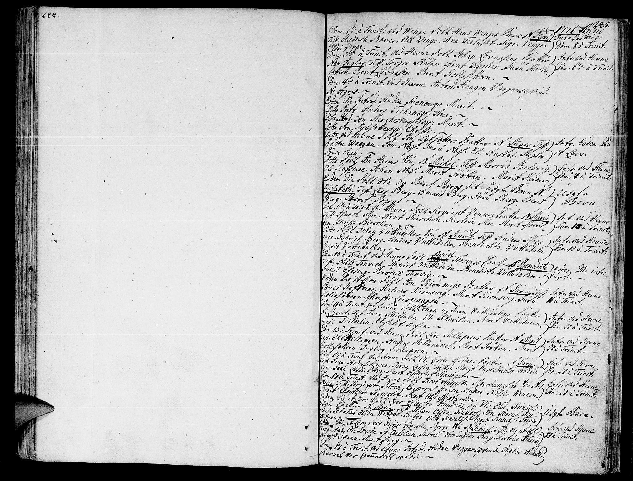 SAT, Ministerialprotokoller, klokkerbøker og fødselsregistre - Sør-Trøndelag, 630/L0489: Ministerialbok nr. 630A02, 1757-1794, s. 244-245
