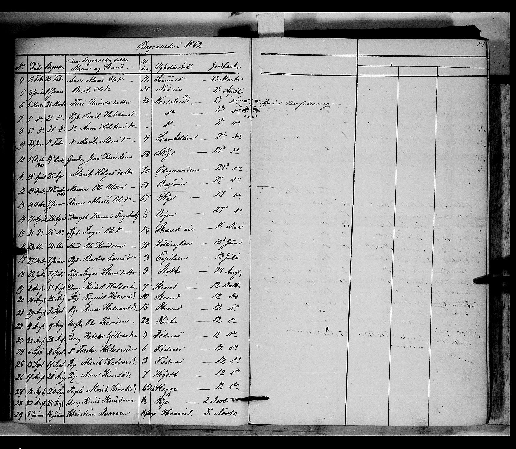 SAH, Nord-Aurdal prestekontor, Ministerialbok nr. 5, 1842-1863, s. 231