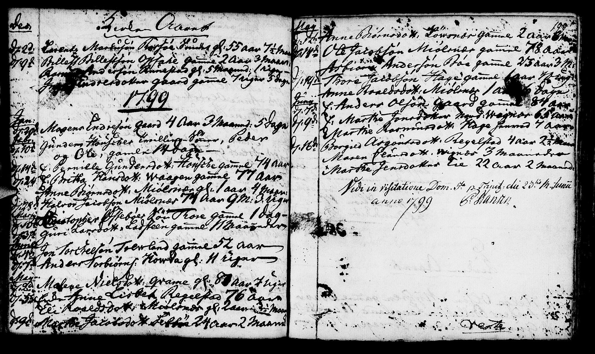 SAST, Finnøy sokneprestkontor, H/Ha/Haa/L0005: Ministerialbok nr. A 5, 1773-1816, s. 199