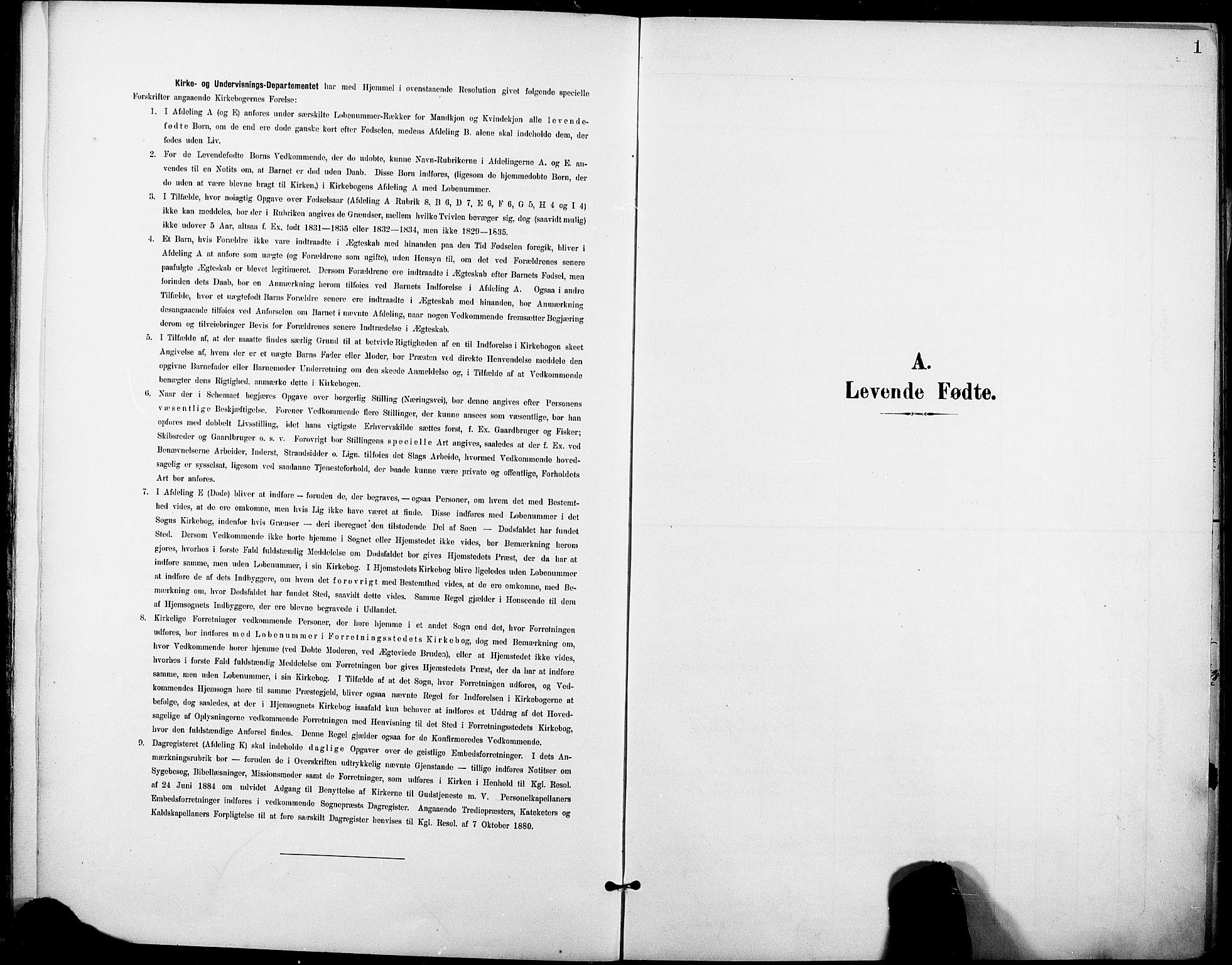 SAKO, Holla kirkebøker, F/Fa/L0010: Ministerialbok nr. 10, 1897-1907, s. 1