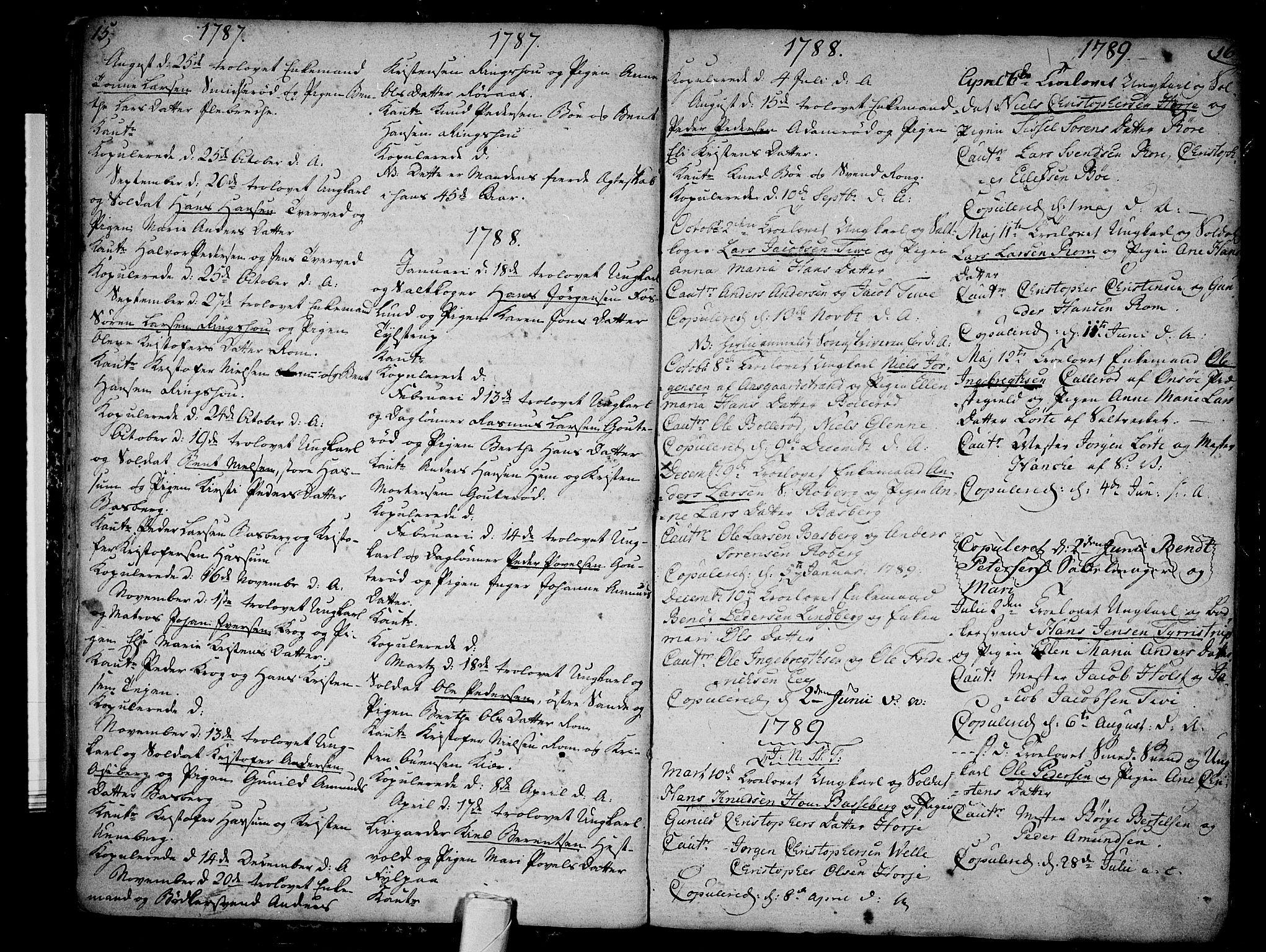 SAKO, Sem kirkebøker, F/Fb/L0002: Ministerialbok nr. II 2, 1764-1792, s. 15-16