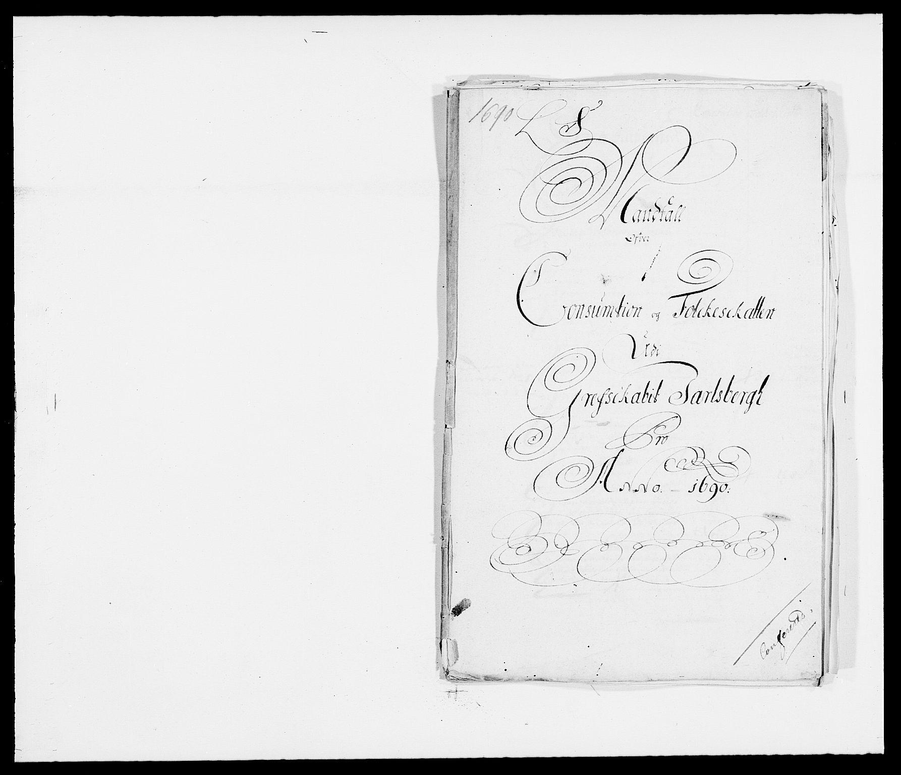 RA, Rentekammeret inntil 1814, Reviderte regnskaper, Fogderegnskap, R32/L1861: Fogderegnskap Jarlsberg grevskap, 1686-1690, s. 309