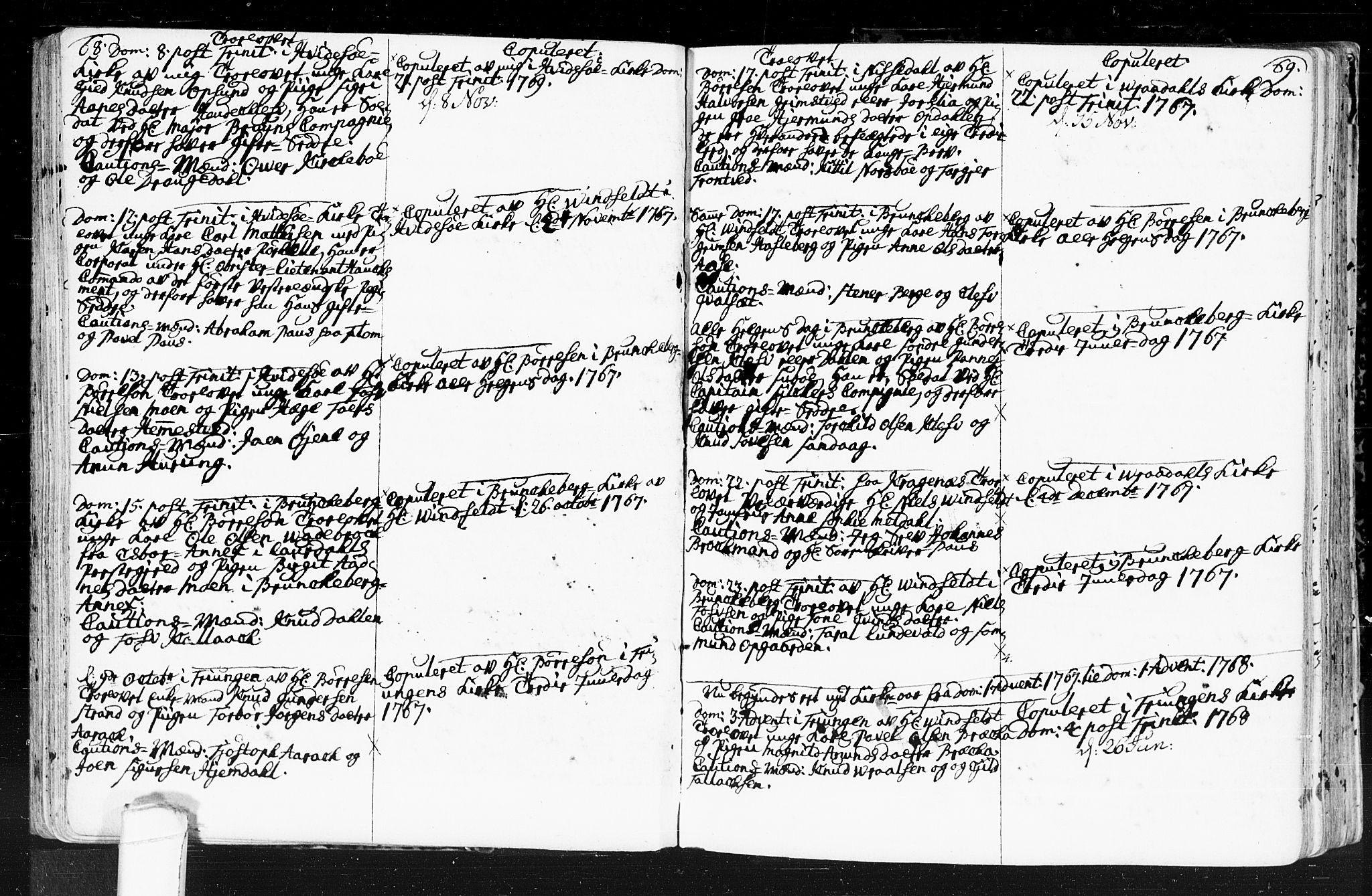 SAKO, Kviteseid kirkebøker, F/Fa/L0001: Ministerialbok nr. I 1, 1754-1773, s. 68-69