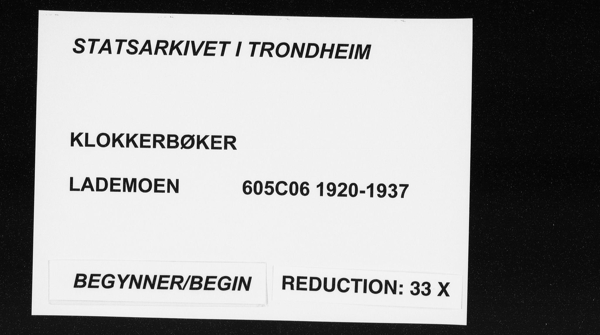 SAT, Ministerialprotokoller, klokkerbøker og fødselsregistre - Sør-Trøndelag, 605/L0259: Klokkerbok nr. 605C06, 1920-1937