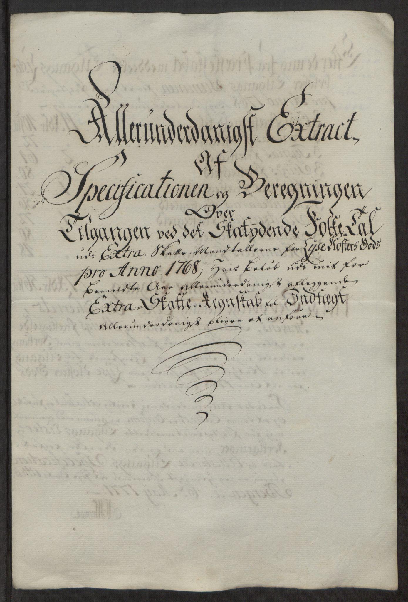 RA, Rentekammeret inntil 1814, Reviderte regnskaper, Fogderegnskap, R50/L3180: Ekstraskatten Lyse kloster, 1762-1783, s. 197